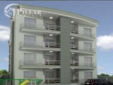 Apartamento com 2 dormit�rios (sendo 1 su�te), cozinha, BWC social, sala de