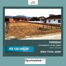 Terrenos - Guabiruba - Centro - Terreno 364 m2